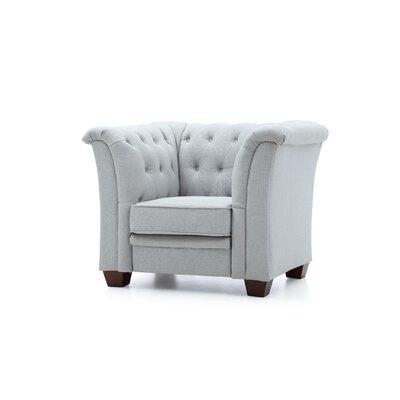 Tignor Tufted Armchair Upholstery: Sky Blue