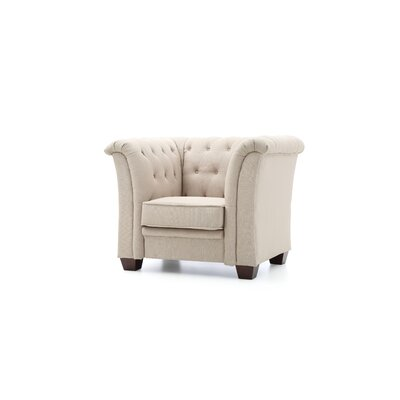 Tignor Tufted Armchair Upholstery: Tan Fabric