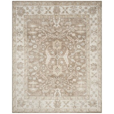 Rennick Hand-Knotted Brown/Ivory Area Rug