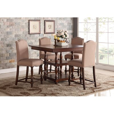 Riehle 5 Piece Counter Height Dining Set