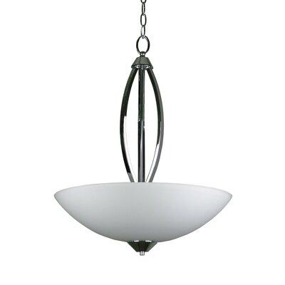 Bramblecrest 3-Light Inverted Bowl Pendant Size: 24.4 H x 20 W x 20 D