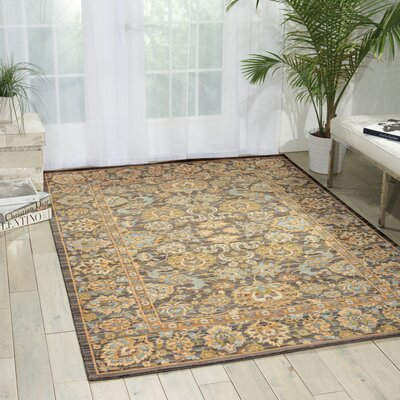 Queenswood Opalescent Gray Area Rug Rug Size: 86 x 116