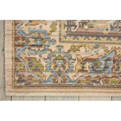 Queenswood Beige Area Rug Rug Size: 56 x 8