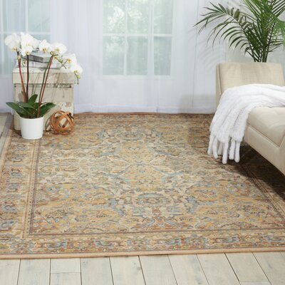 Queenswood Beige Area Rug Rug Size: 86 x 116