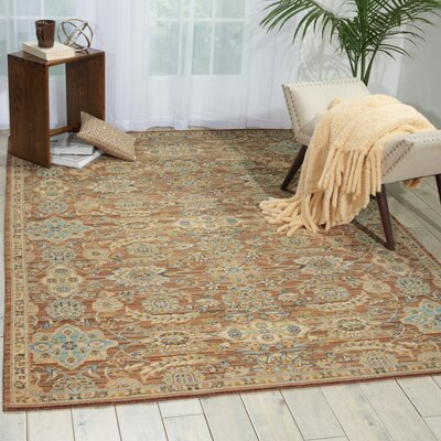 Queenswood Mocha Area Rug Rug Size: 79 x 99