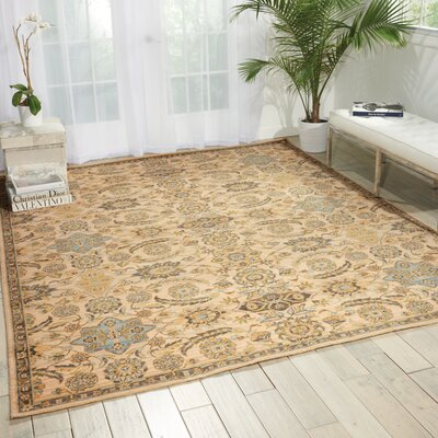Queenswood Beige Area Rug Rug Size: 79 x 99