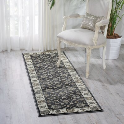 Atlasburg Charcoal/Ivory Area Rug Rug Size: Runner 22 x 76