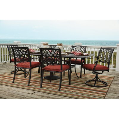 Burgett 7 Piece Extension Rectangular Dining Set
