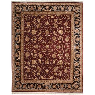 Beason Hand-Woven Burgundy Area Rug Rug Size: 79 x 99