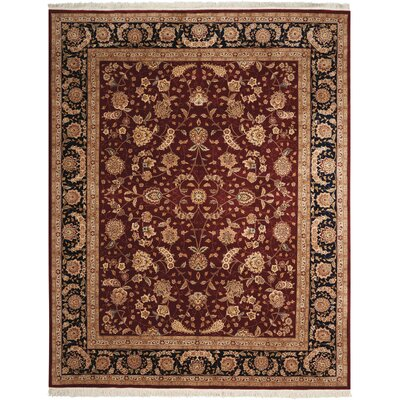 Beason Hand-Woven Burgundy Area Rug Rug Size: Rectangle 86 x 116