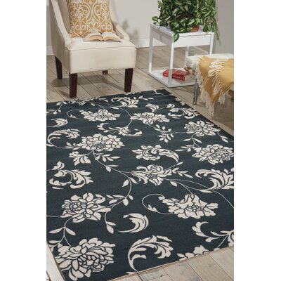 Kristine Black/Ivory Indoor/Outdoor Area Rug Rug Size: Rectangle 10 x 13