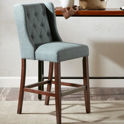 Maxwell 30 Bar Stool Upholstery: Blue