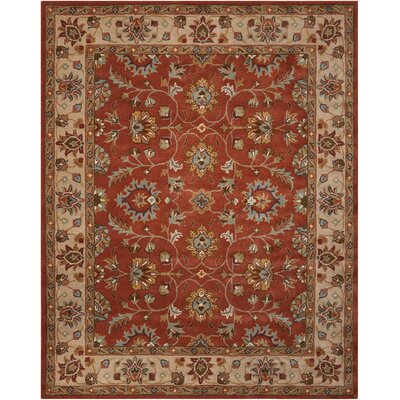 Willet Hand-Tufted Rust Area Rug
