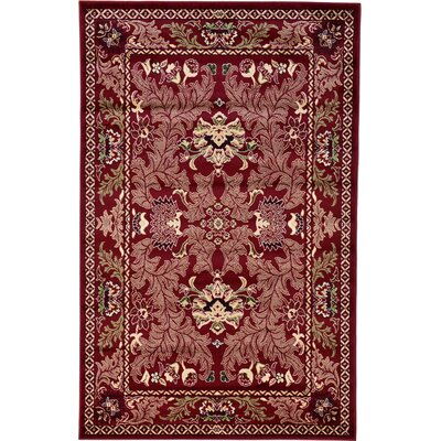 Wheatland Red Area Rug Rug Size: Rectangle 5 x 8