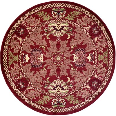 Wheatland Red Area Rug Rug Size: Round 8