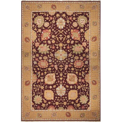 Leavittsburg Hand-Woven Burgundy Area Rug Rug Size: Rectangle 12 x 18