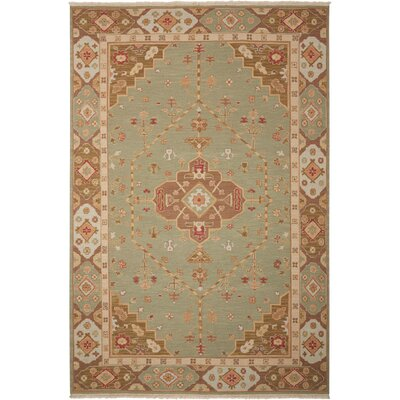 Cullen Hand-Woven Jade Area Rug Rug Size: Rectangle 12 x 18