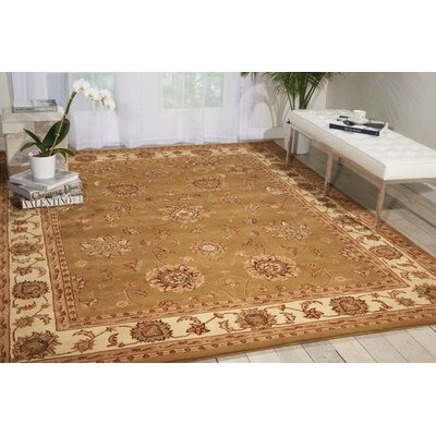 Ottoville Hand-Tufted Olive/Beige Area Rug Rug Size: Rectangle 5 x 8