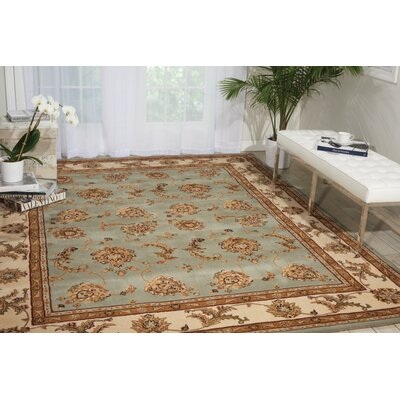Ottoville Hand-Tufted Blue/Beige Area Rug Rug Size: 79 x 99