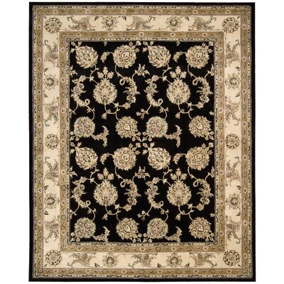 Ottoville Hand-Tufted Black/Beige Area Rug Rug Size: 5 x 8