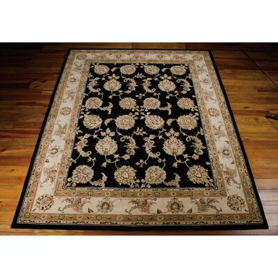 Ottoville Hand-Tufted Black/Beige Area Rug Rug Size: Rectangle 5 x 8