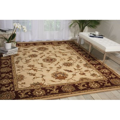 Freeport Handmade Beige/Red Area Rug Rug Size: 79 x 99