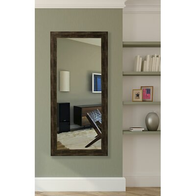Rectangle Brushed Classic Brown Floor Mirror