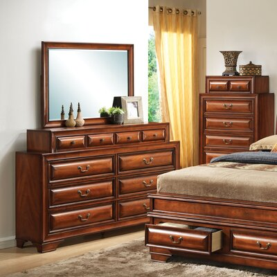 Edwardsville 10 Drawer Dresser Color: Cherry