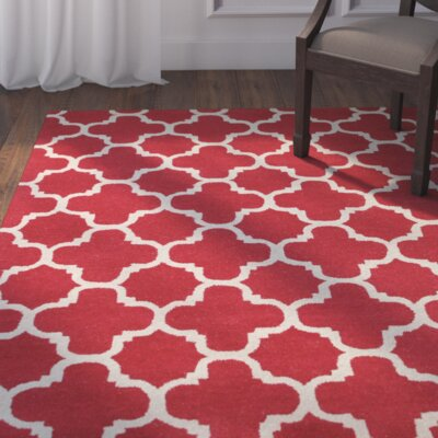 Lugent Hand-Tufted Red Area Rug