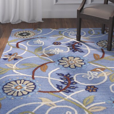 Corrine Hand-Tufted Denim Area Rug Size: Runner 2'6 x 8'