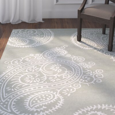 Shillington Hand-Tufted Gray/Ivory Area Rug Rug Size: Rectangle 8 x 10