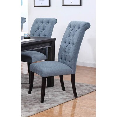 Lapeer Side Chair Upholstery: Sea Blue