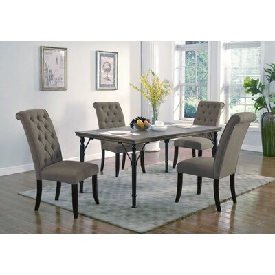Lapeer 5 Piece Dining Set Upholstery: Umber
