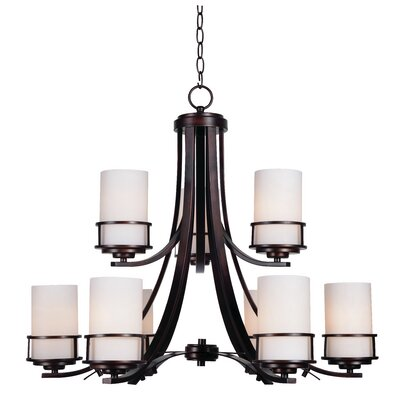 Layfield 9-Light Shaded Chandelier