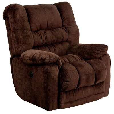 Lawnton Power Recliner Upholstery: Mahogany