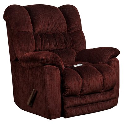 Lawnton Massaging Microfiber Recliner with Heat Control Upholstery: Merlot