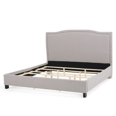 Landisburg Panel Bed Size: King, Upholstery Color: Light Gray