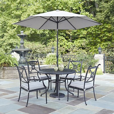 Lansdale 7 Piece Dining Set with Cushions and Umbrella