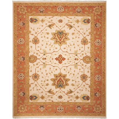 Burnham Hand-Woven Ivory Area Rug Rug Size: Rectangle 310 x 510