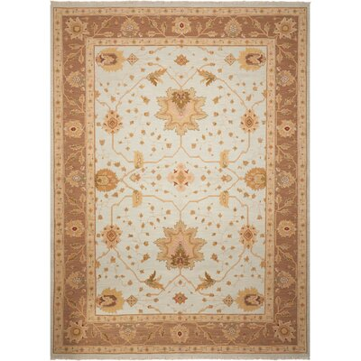 Burnham Hand-Woven Light Blue Area Rug Rug Size: 510 x 810