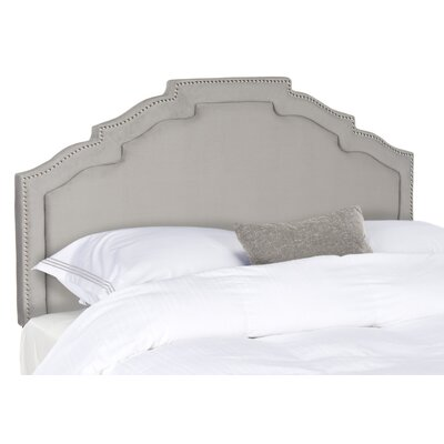 Parsonsfield Upholstered Panel�Headboard Size: Full, Color: Steel Blue, Upholstery: Linen