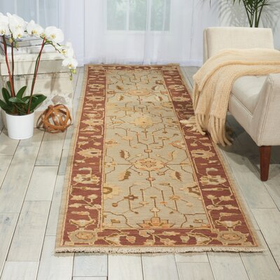 Burnham Hand-Woven Gray Area Rug Rug Size: Rectangle 510 x 810