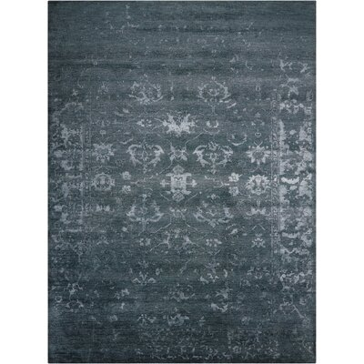 Navarre Gray/Ivory Area Rug Rug Size: Rectangle 56 x 75