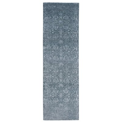 Navarre Gray/Ivory Area Rug Rug Size: Runner 23 x 8