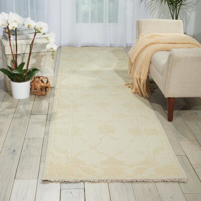 Casey Hand-Woven Ivory Area Rug Rug Size: Runner 26 x 10