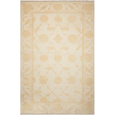 Casey Hand-Woven Ivory Area Rug Rug Size: Rectangle 510 x 810