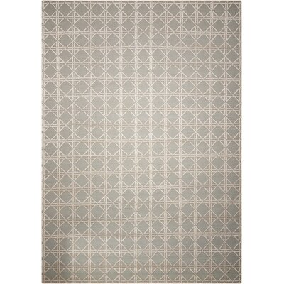Oxford Hand-Woven Gray Area Rug Rug Size: 86 x 116