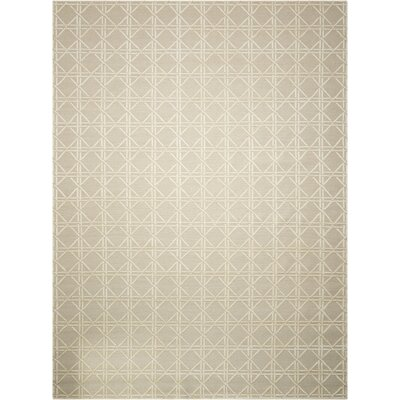 Oxford Hand-Woven Gray/Beige Area Rug Rug Size: 96 x 13