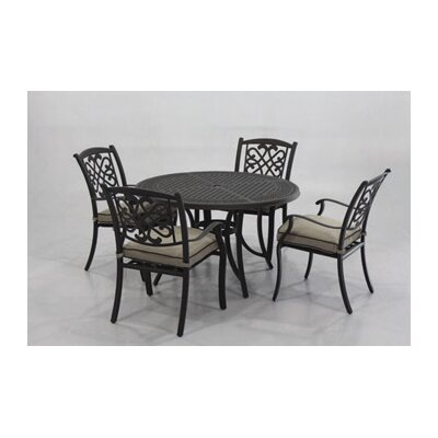Darby Home Co Hanson 5 Piece Round Dining Set