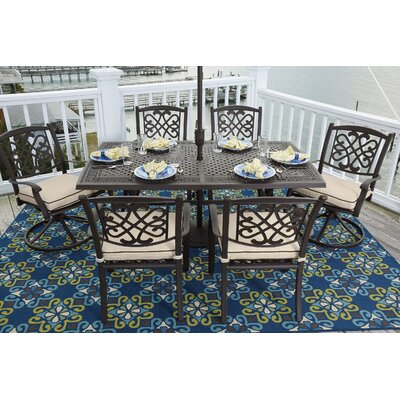 Hanson 7 Piece Round Dining Set